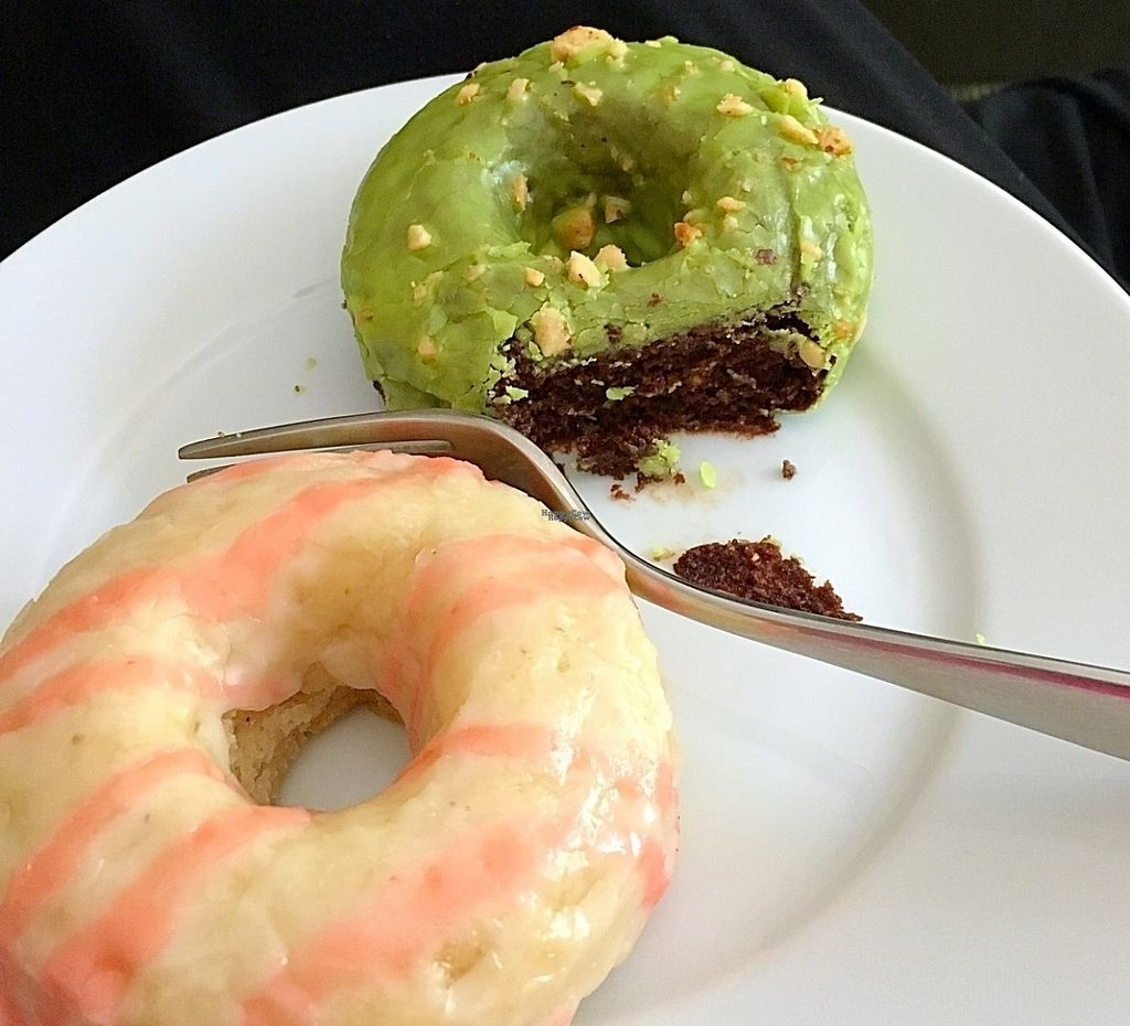 "Photo of Cartems Donuterie - Kitsilano  by <a href=""/members/profile/vegan%20frog"">vegan frog</a> <br/>Flavour of the month gluten free vegan donuts <br/> August 27, 2016  - <a href='/contact/abuse/image/76735/171692'>Report</a>"