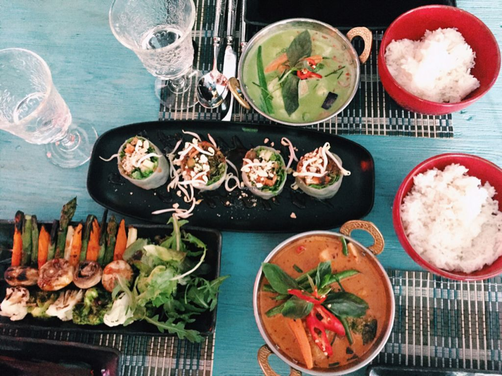 "Photo of Tai Boh  by <a href=""/members/profile/Morbid%20Cafe"">Morbid Cafe</a> <br/>Red & green curry, summer rolls & grilled vegetables <br/> July 20, 2016  - <a href='/contact/abuse/image/76750/161049'>Report</a>"