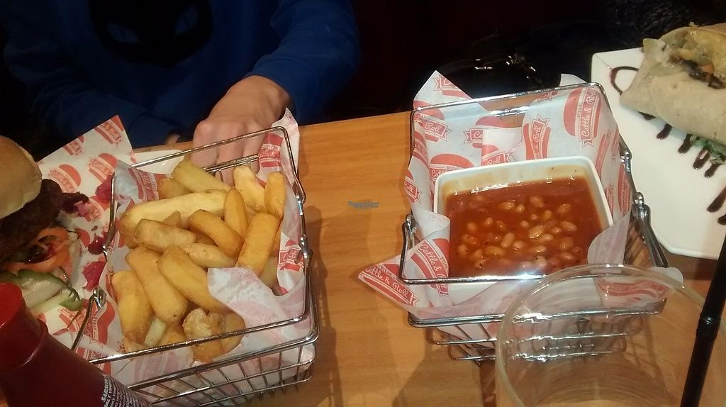 """Photo of Steak Cattle & Roll - Sauchiehall St  by <a href=""""/members/profile/TrixieFirecracker"""">TrixieFirecracker</a> <br/>Chips, and Coca-Cola BBQ beans <br/> March 20, 2017  - <a href='/contact/abuse/image/76751/238926'>Report</a>"""