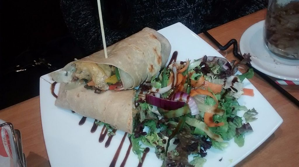 """Photo of Steak Cattle & Roll - Sauchiehall St  by <a href=""""/members/profile/TrixieFirecracker"""">TrixieFirecracker</a> <br/>Veggie tofu wrap <br/> March 20, 2017  - <a href='/contact/abuse/image/76751/238927'>Report</a>"""