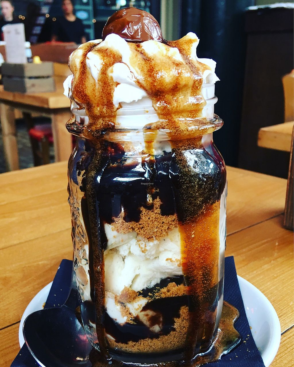 """Photo of Steak Cattle & Roll - Sauchiehall St  by <a href=""""/members/profile/HeatherWalsh"""">HeatherWalsh</a> <br/>Yummy vegan banoffi sundae!  <br/> July 27, 2017  - <a href='/contact/abuse/image/76751/285683'>Report</a>"""