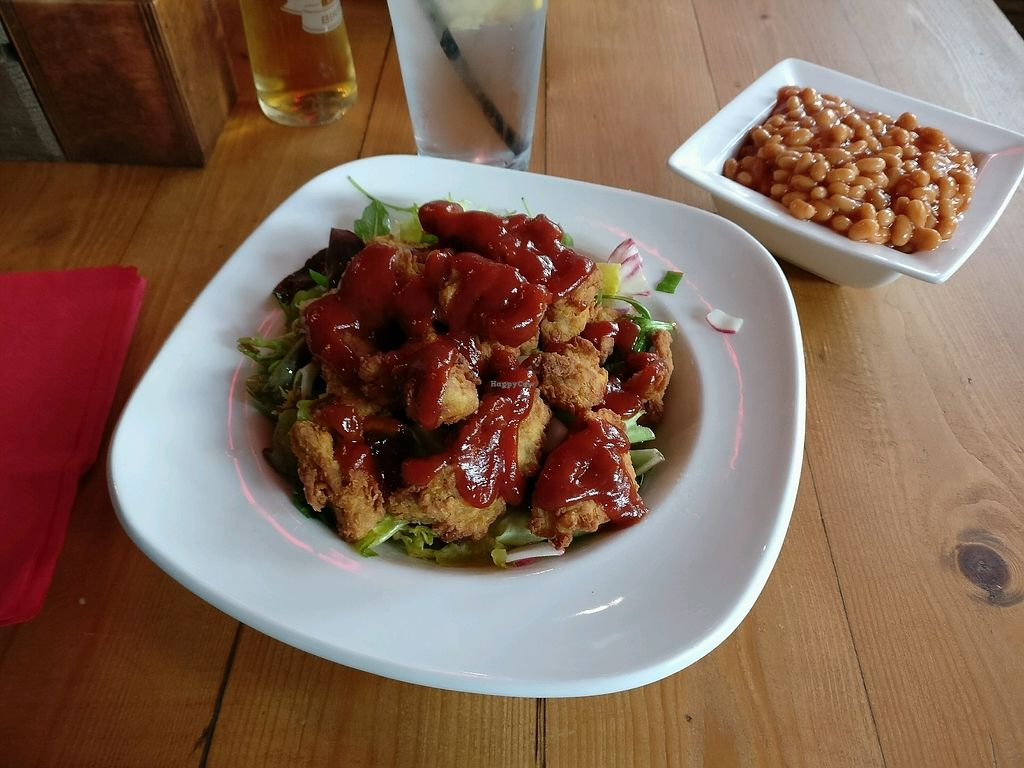 """Photo of Steak Cattle & Roll - Sauchiehall St  by <a href=""""/members/profile/quench"""">quench</a> <br/>Vegan chicken salad and BBQ coca-cola beans <br/> October 1, 2017  - <a href='/contact/abuse/image/76751/310597'>Report</a>"""