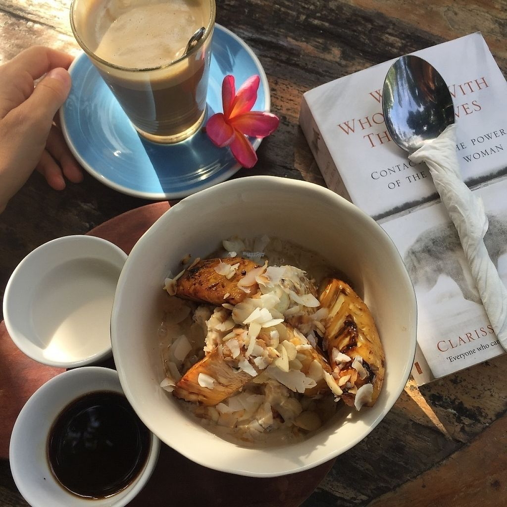 "Photo of The Shady Shack  by <a href=""/members/profile/tamarabrooke"">tamarabrooke</a> <br/>Sticky bircher + soy latte <br/> December 15, 2016  - <a href='/contact/abuse/image/76760/201333'>Report</a>"