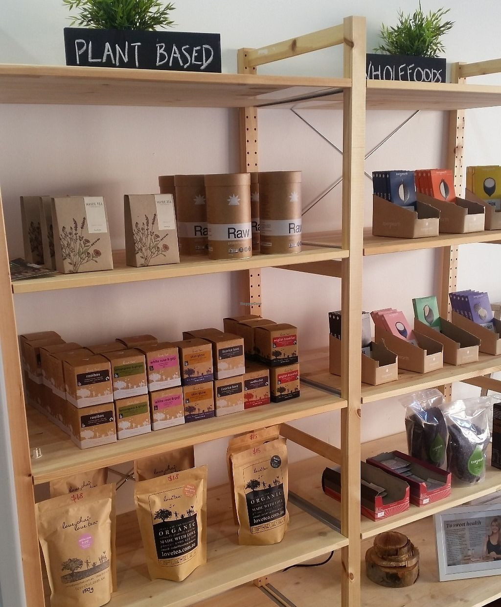 "Photo of RAW  by <a href=""/members/profile/MaddieLucas"">MaddieLucas</a> <br/>Great selection of plant based goodies not only on the menu but also on the shelves to purchase! <br/> July 20, 2016  - <a href='/contact/abuse/image/76769/255656'>Report</a>"