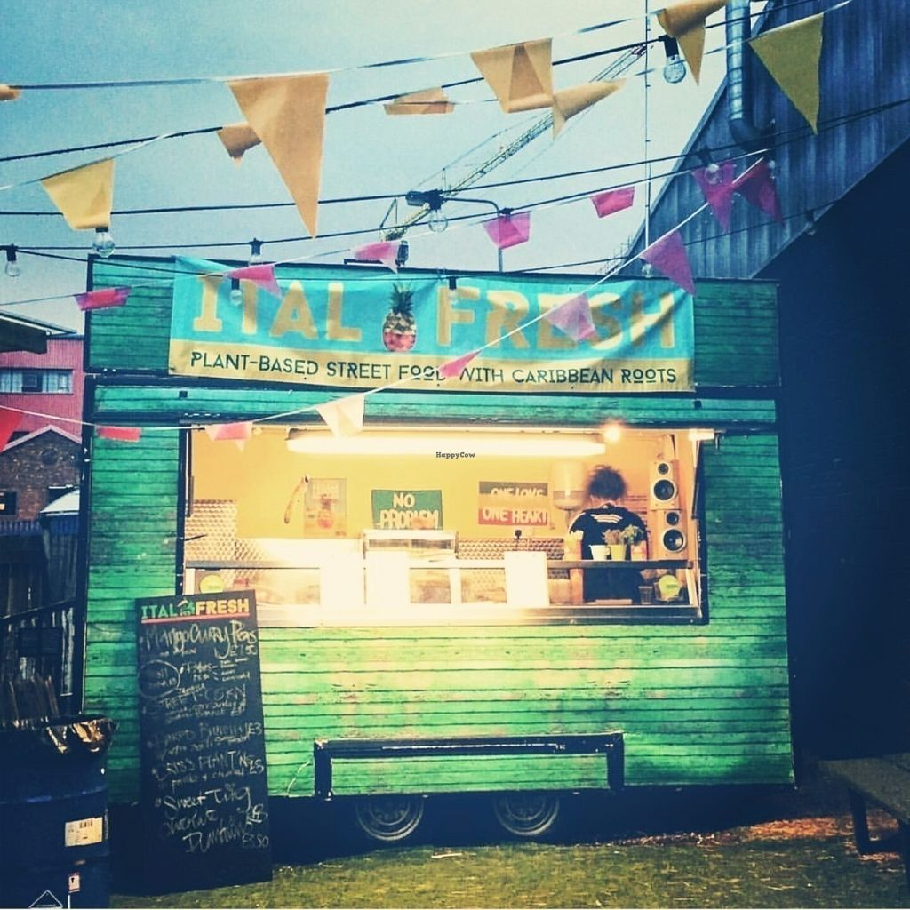 """Photo of ItalFresh  by <a href=""""/members/profile/Italfreshhq16"""">Italfreshhq16</a> <br/>The ital fresh food truck! Based in District's back yard - plenty of outdoor seating and loads more cosy tables indoors, where a bar stocked with rum punch, juices and red stripe awaits! <br/> July 19, 2016  - <a href='/contact/abuse/image/76774/160963'>Report</a>"""