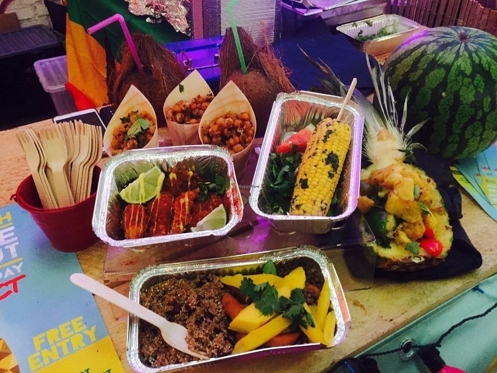 """Photo of ItalFresh  by <a href=""""/members/profile/Italfreshhq16"""">Italfreshhq16</a> <br/>100% vegan caribbean food - street food style! From mango curry peas to trini channa, jerk pineapple and fresh coconut milk! Not forgetting the most out of this world plantains! <br/> July 19, 2016  - <a href='/contact/abuse/image/76774/160968'>Report</a>"""