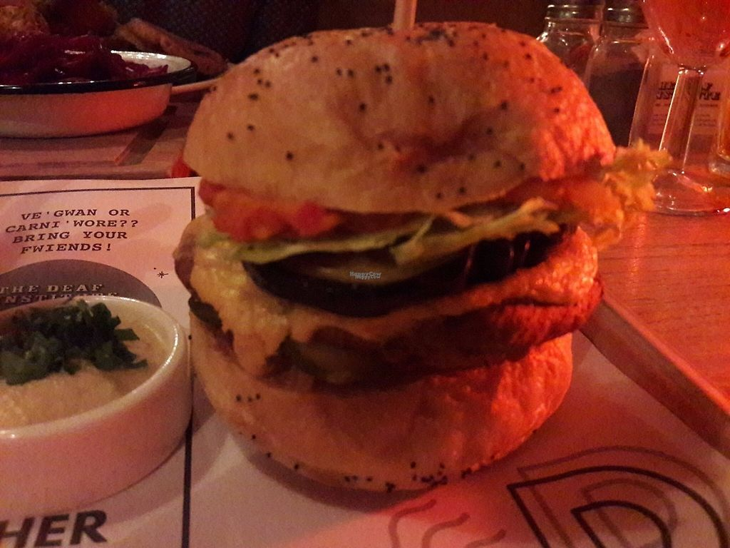 """Photo of The Deaf Institute Bar and Kitchen  by <a href=""""/members/profile/Veganolive1"""">Veganolive1</a> <br/>Seitan burger <br/> November 14, 2016  - <a href='/contact/abuse/image/76794/190191'>Report</a>"""
