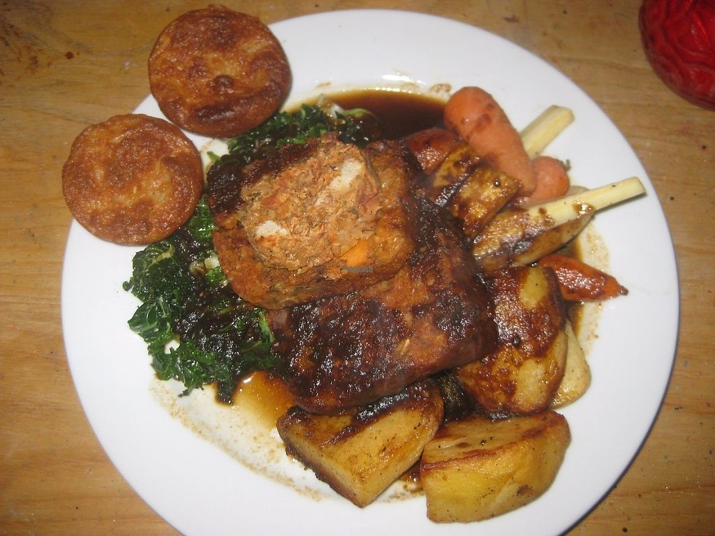 """Photo of The Deaf Institute Bar and Kitchen  by <a href=""""/members/profile/jennyc32"""">jennyc32</a> <br/>Christmas dinner, with vegan Yorkshire puds! <br/> January 6, 2017  - <a href='/contact/abuse/image/76794/208613'>Report</a>"""