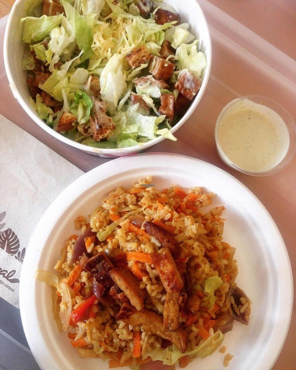 """Photo of Great Bistro  by <a href=""""/members/profile/imendes"""">imendes</a> <br/>fried rice with tofu & caesar salad <br/> November 17, 2016  - <a href='/contact/abuse/image/76811/191487'>Report</a>"""