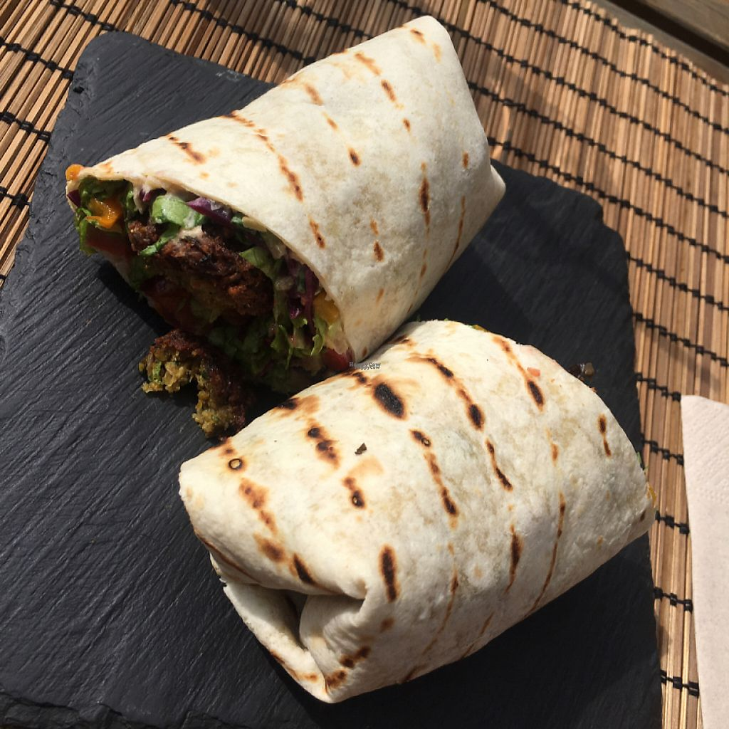 "Photo of Monkey  by <a href=""/members/profile/Annebumble"">Annebumble</a> <br/>Vegan Felafel wraps  <br/> March 30, 2017  - <a href='/contact/abuse/image/76874/242570'>Report</a>"