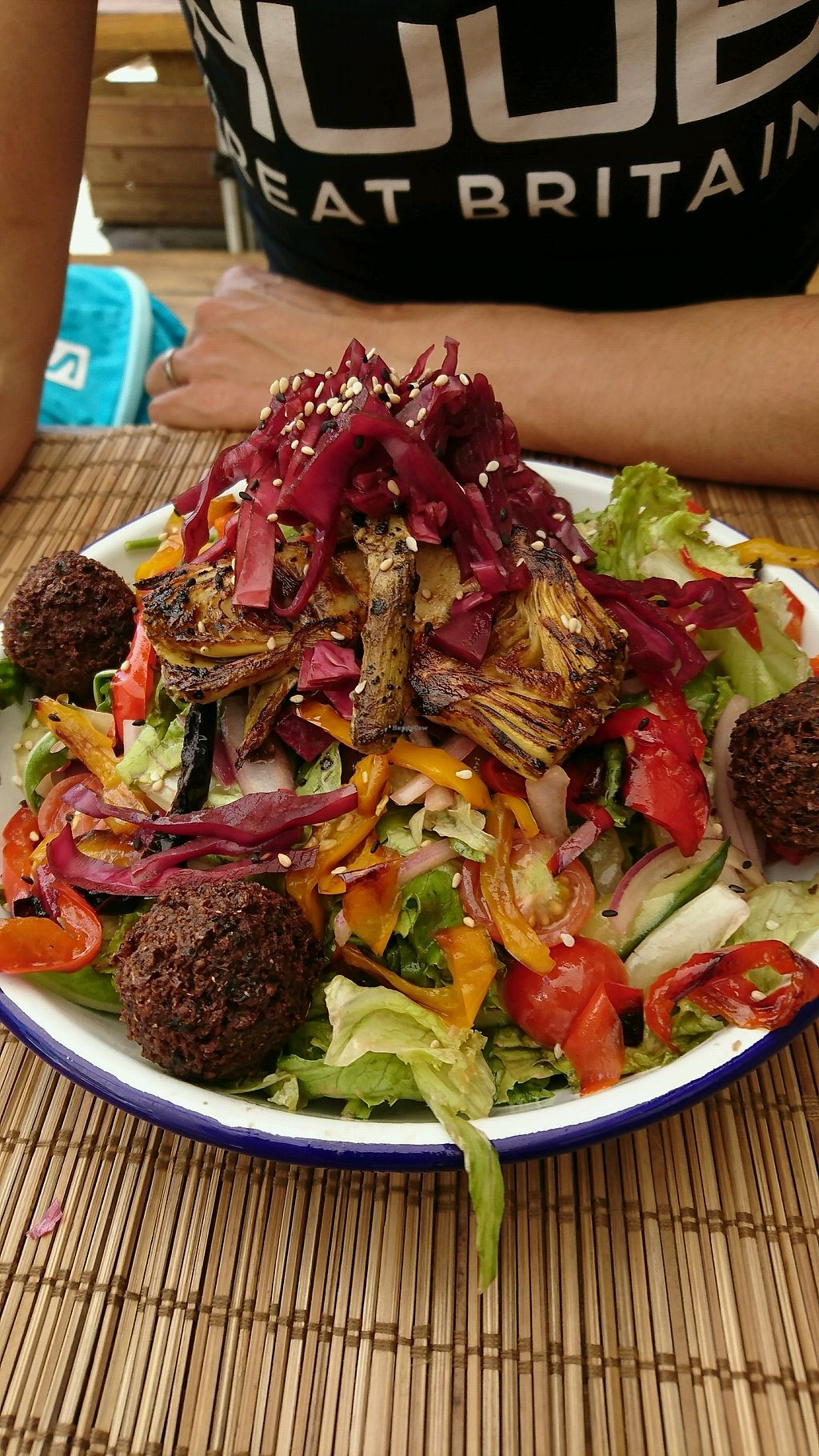 "Photo of Monkey  by <a href=""/members/profile/Macarone"">Macarone</a> <br/>Falafel and artichoke salad  <br/> August 22, 2017  - <a href='/contact/abuse/image/76874/295709'>Report</a>"