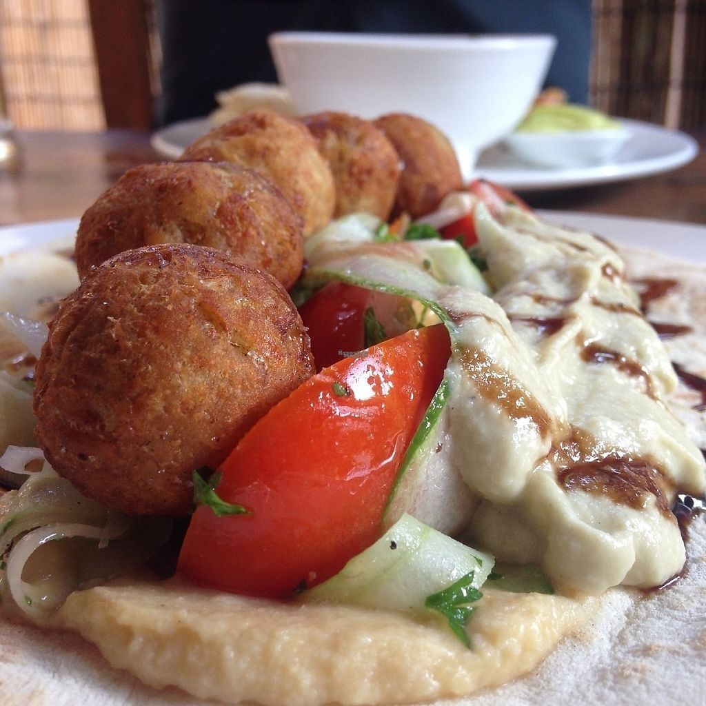 """Photo of The Veg G Table Cafe  by <a href=""""/members/profile/VeganMush"""">VeganMush</a> <br/>Falafel flat bread <br/> December 29, 2016  - <a href='/contact/abuse/image/76909/205889'>Report</a>"""