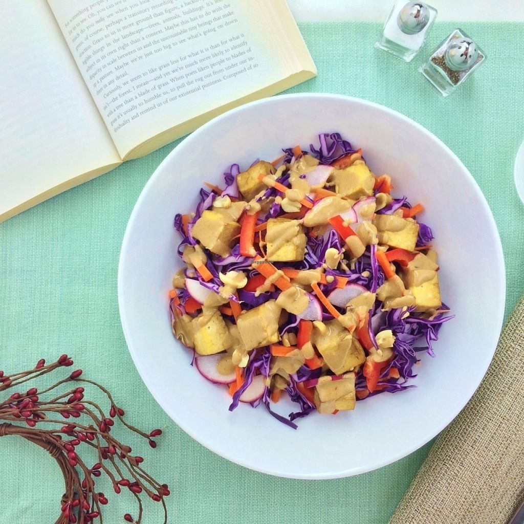 """Photo of Sprinly  by <a href=""""/members/profile/raylui"""">raylui</a> <br/>Spicy Red Cabbage Bowl with Peanut Sauce <br/> July 23, 2016  - <a href='/contact/abuse/image/76917/161670'>Report</a>"""