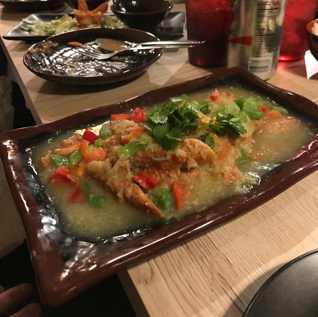 """Photo of Veggie Village  by <a href=""""/members/profile/Tigra220"""">Tigra220</a> <br/>Ginger Chicken <br/> January 27, 2017  - <a href='/contact/abuse/image/76977/217940'>Report</a>"""