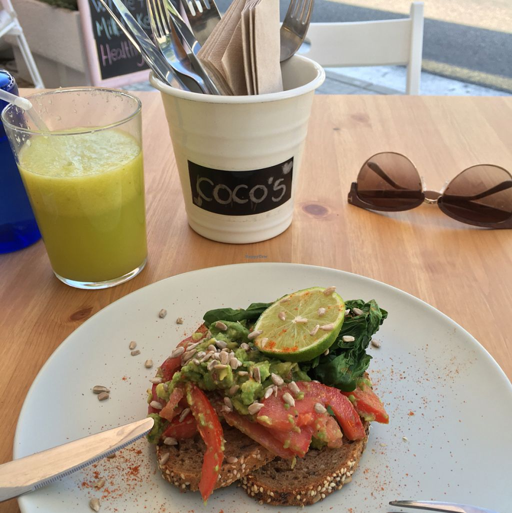 """Photo of Cocos Deli  by <a href=""""/members/profile/KylieJ"""">KylieJ</a> <br/>Vegan breakfast with optional GF bread  <br/> July 28, 2016  - <a href='/contact/abuse/image/76979/162905'>Report</a>"""