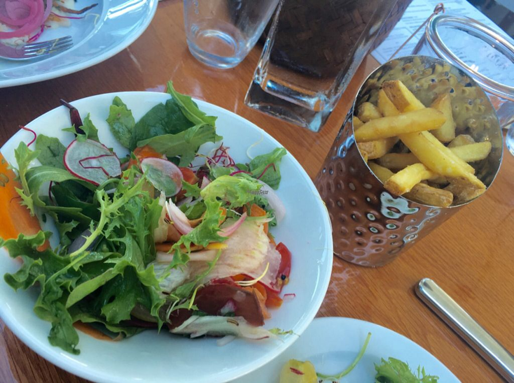 "Photo of Restaurang Sand  by <a href=""/members/profile/veganmom"">veganmom</a> <br/>Starter salad & crispy fries! <br/> August 2, 2016  - <a href='/contact/abuse/image/76987/164537'>Report</a>"