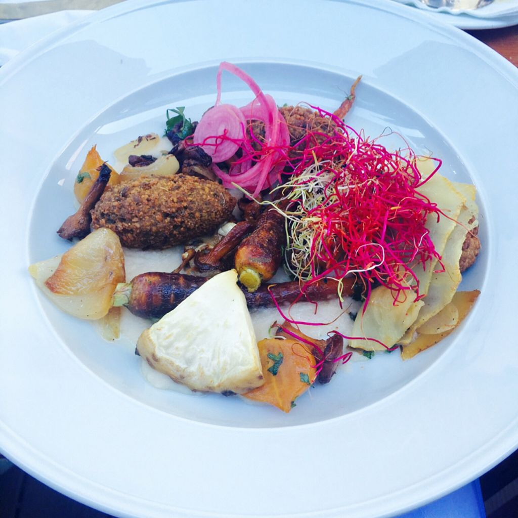 "Photo of Restaurang Sand  by <a href=""/members/profile/veganmom"">veganmom</a> <br/>Delicious vegan plate! <br/> August 2, 2016  - <a href='/contact/abuse/image/76987/164538'>Report</a>"