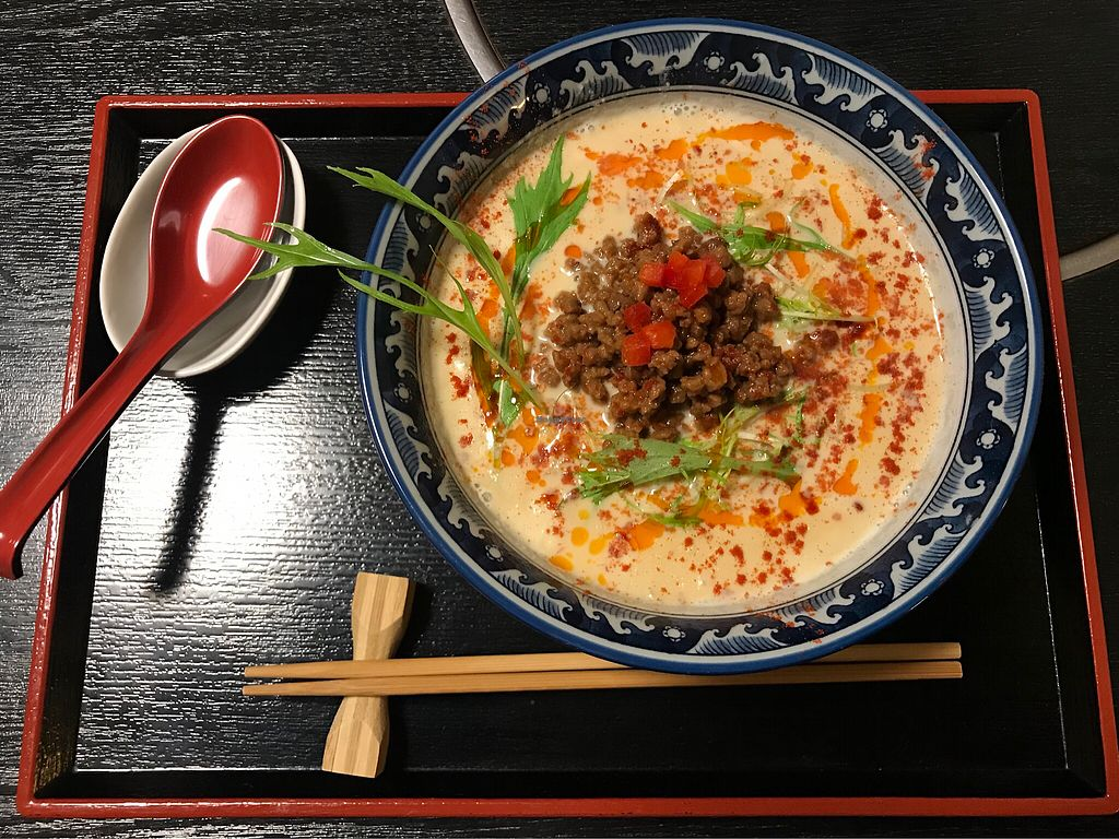 """Photo of Vegan Ramen Towzen  by <a href=""""/members/profile/MelissaW"""">MelissaW</a> <br/>Vegan tantanmen ramen <br/> February 2, 2018  - <a href='/contact/abuse/image/76999/354058'>Report</a>"""