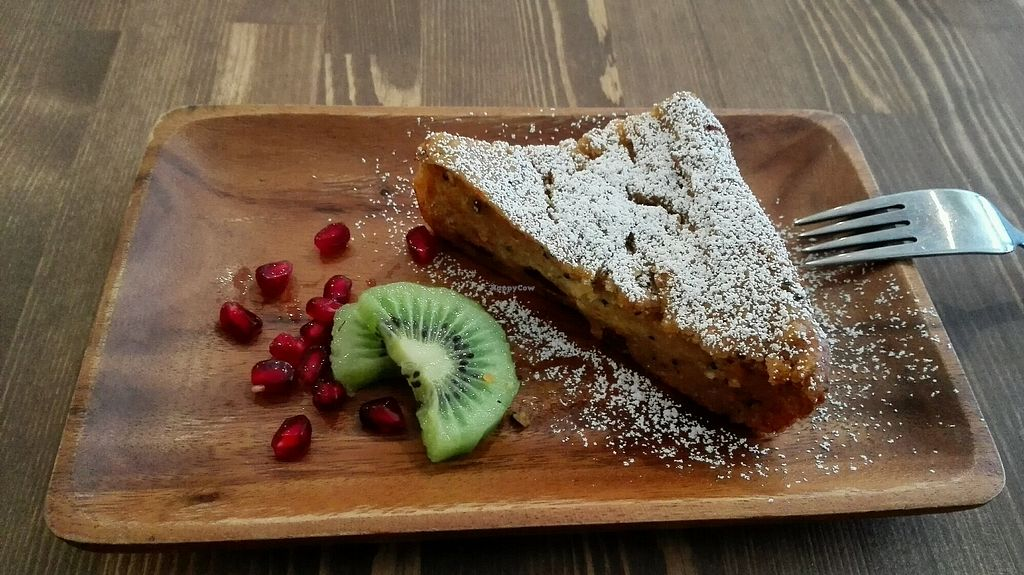 """Photo of La Quinua  by <a href=""""/members/profile/Miykoll"""">Miykoll</a> <br/>Carrot and Quinoa vegan cake 500 yen  <br/> January 3, 2018  - <a href='/contact/abuse/image/77018/342388'>Report</a>"""