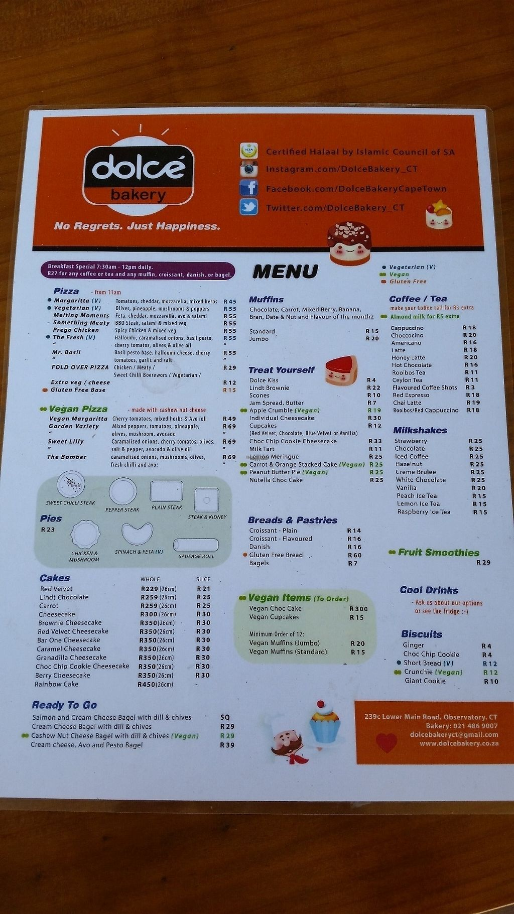 """Photo of Dolce Bakery  by <a href=""""/members/profile/konlish"""">konlish</a> <br/>Menu <br/> January 16, 2017  - <a href='/contact/abuse/image/77035/212423'>Report</a>"""