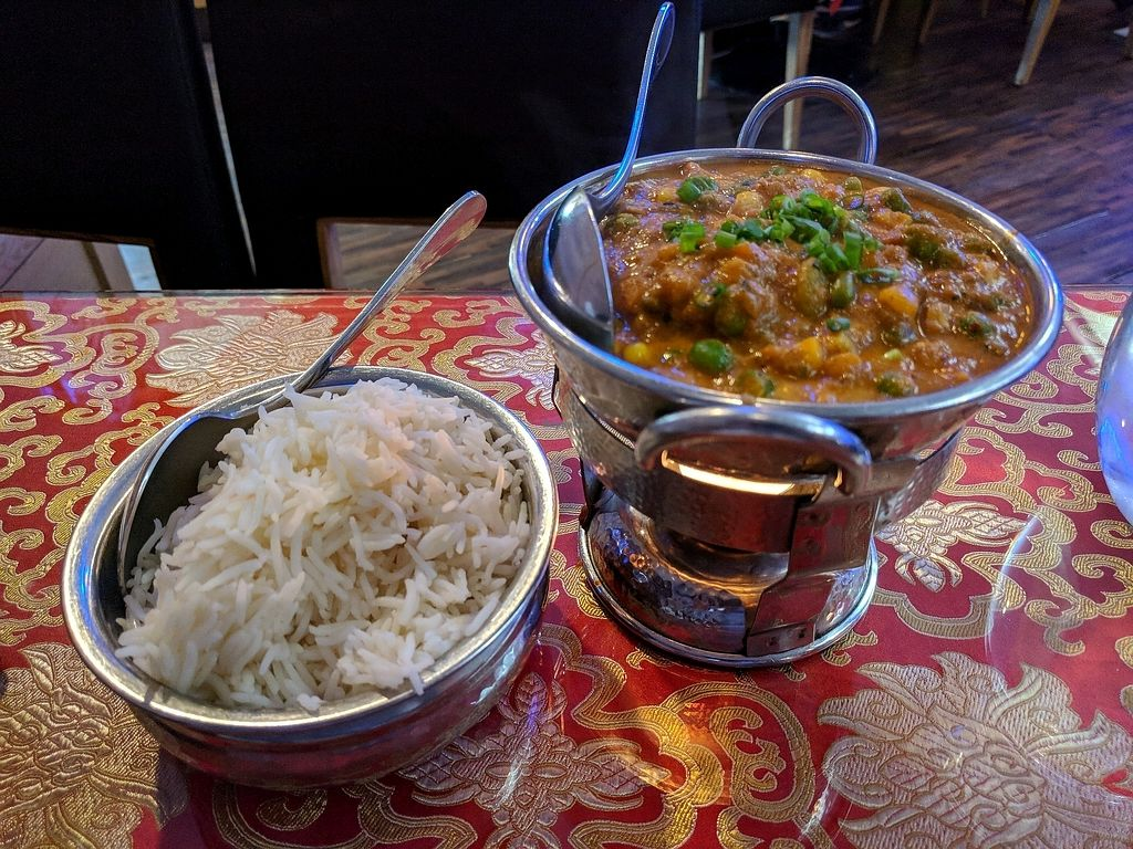 """Photo of Jyoti Restaurant - Nogosan  by <a href=""""/members/profile/PhillipPark"""">PhillipPark</a> <br/>mixed vegetable curry and basmati rice <br/> October 23, 2017  - <a href='/contact/abuse/image/77052/317924'>Report</a>"""