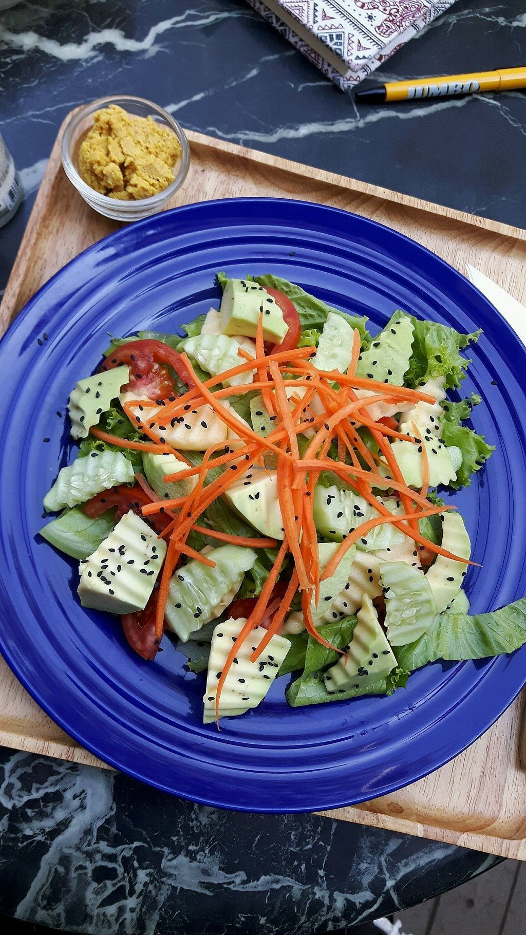 """Photo of Coco&Co.  by <a href=""""/members/profile/CharityBosua"""">CharityBosua</a> <br/>Avocado salad with hummus. No toast because bread isn't vegan <br/> January 13, 2018  - <a href='/contact/abuse/image/77059/346032'>Report</a>"""