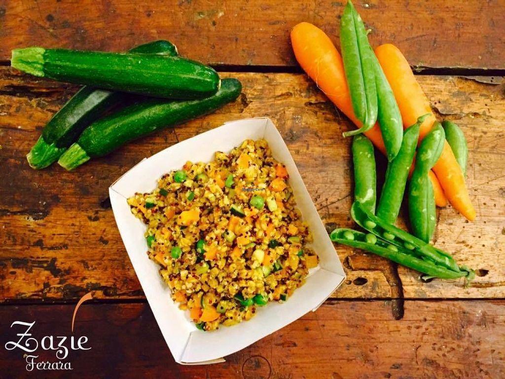 Photo of Zazie  by Flocca <br/>Farro&Quinoa con carote, zucchine, piselli, aneto e curcuma <br/> July 30, 2016  - <a href='/contact/abuse/image/77065/163434'>Report</a>