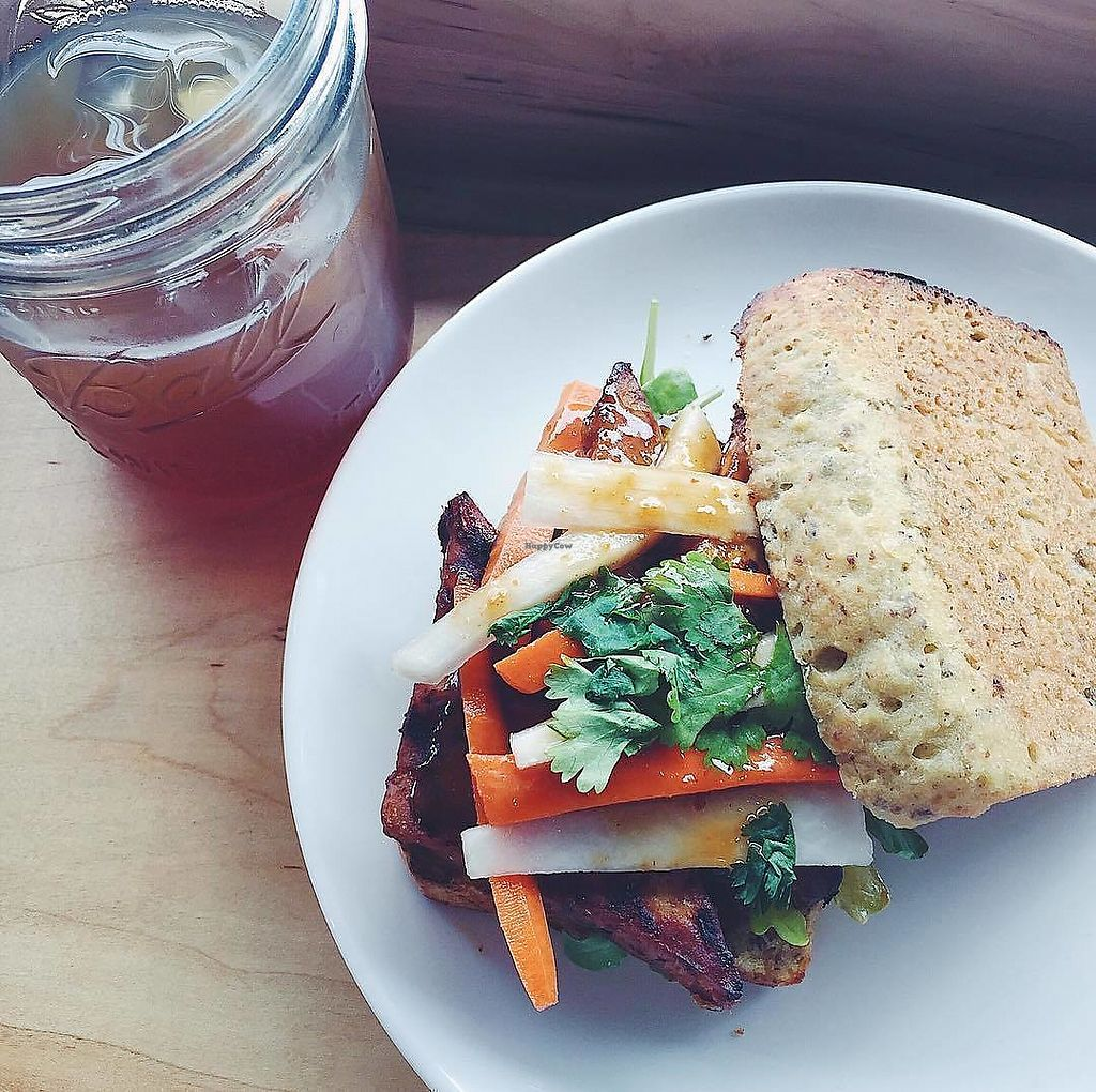 "Photo of Aracari Kitchen  by <a href=""/members/profile/Gingersnaps24"">Gingersnaps24</a> <br/>The Korean sandwich on gluten free bread and served with mint tea! ♥ <br/> December 25, 2017  - <a href='/contact/abuse/image/77082/338890'>Report</a>"