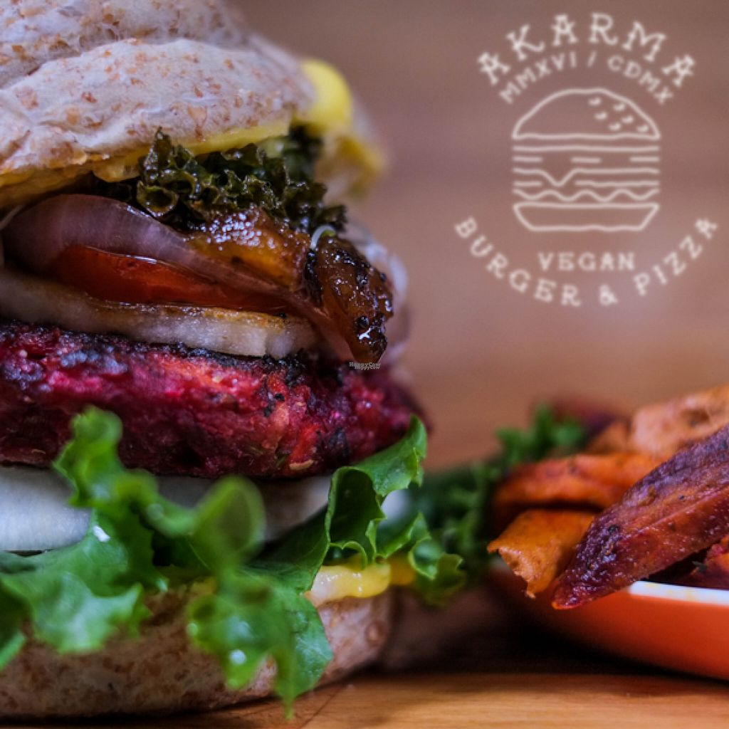"Photo of Akarma Vegan  by <a href=""/members/profile/AkarmaVegan"">AkarmaVegan</a> <br/>Akarma Vegan Burger <br/> August 1, 2016  - <a href='/contact/abuse/image/77099/164045'>Report</a>"