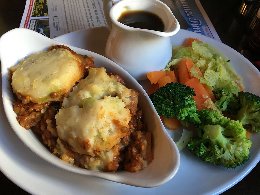 """Photo of The Foundry Arms  by <a href=""""/members/profile/prisonerofmars"""">prisonerofmars</a> <br/>Vegan Shepherds Pie  <br/> February 25, 2018  - <a href='/contact/abuse/image/77114/363822'>Report</a>"""