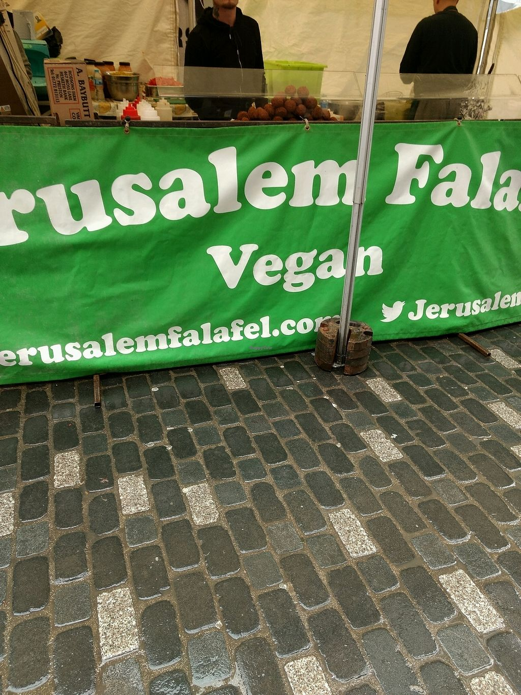 """Photo of Jerusalem Falafel - Food Stall  by <a href=""""/members/profile/craigmc"""">craigmc</a> <br/>vegan <br/> October 19, 2017  - <a href='/contact/abuse/image/77117/316567'>Report</a>"""