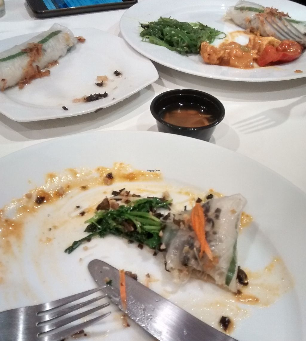 """Photo of Nan-yea Market  by <a href=""""/members/profile/FontellaLloyd"""">FontellaLloyd</a> <br/>the remains of my rice rolls with the green salad and you can see some carrot/garlic dressing, slightly spicy stir fry with tofu and more green salad in the background. It was all lush!!   <br/> September 22, 2017  - <a href='/contact/abuse/image/77119/307238'>Report</a>"""
