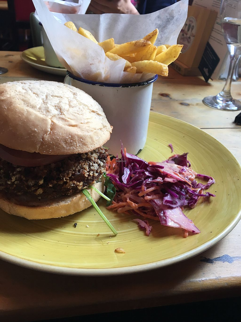 """Photo of Nautico Lounge  by <a href=""""/members/profile/Bafodelic"""">Bafodelic</a> <br/>Falafel burger  <br/> September 28, 2017  - <a href='/contact/abuse/image/77121/309373'>Report</a>"""