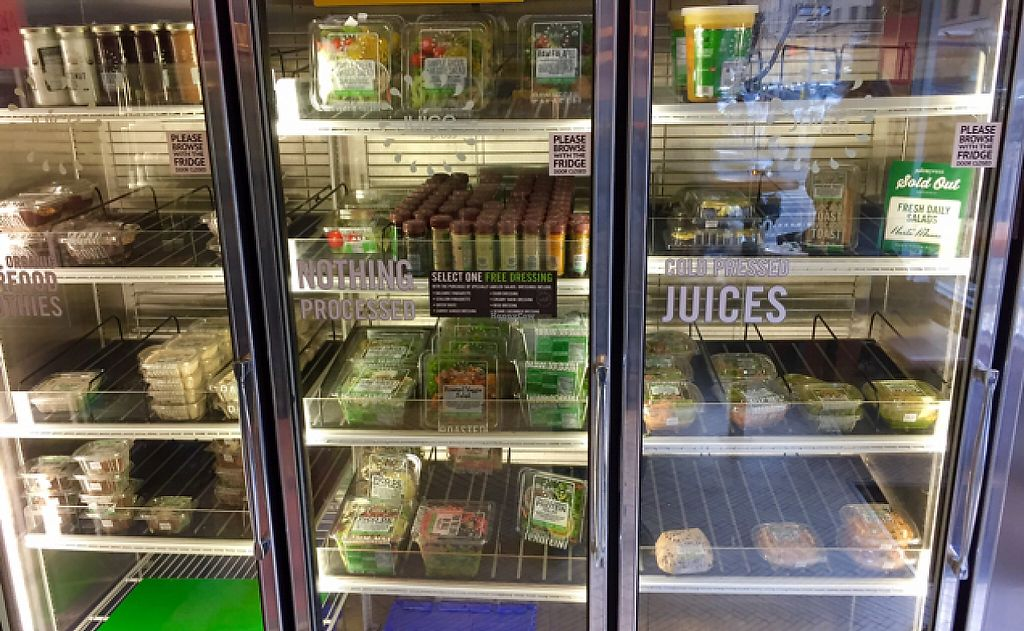 "Photo of Juice Press - Madison Ave  by <a href=""/members/profile/SFRobbie"">SFRobbie</a> <br/>Lots of great fresh, to go vegan vegan meals <br/> February 4, 2017  - <a href='/contact/abuse/image/77144/221898'>Report</a>"