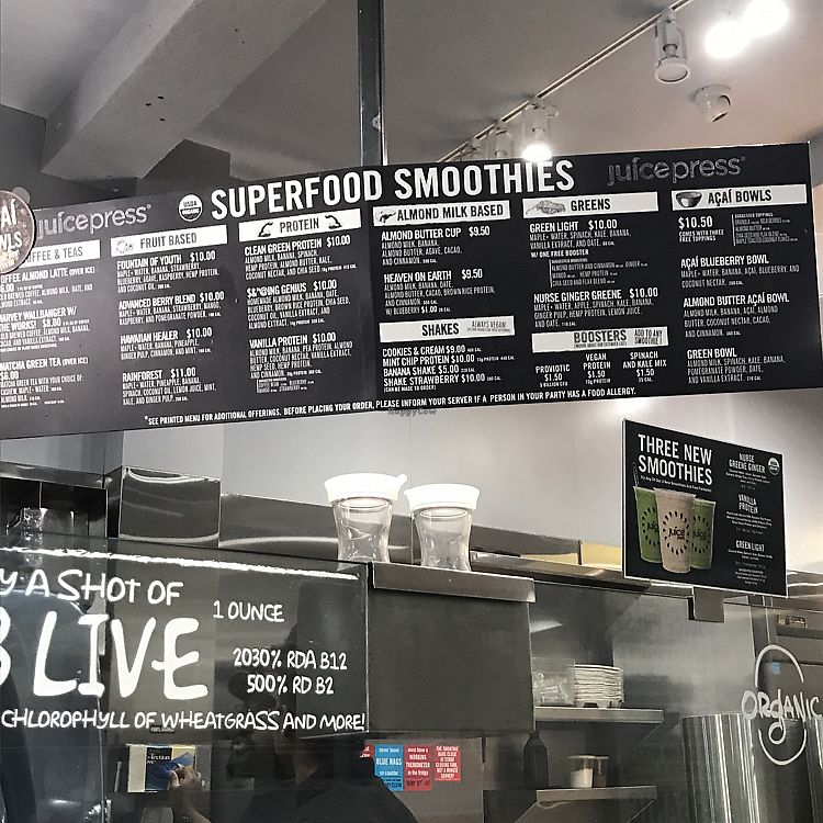 """Photo of Juice Press -  Murray St  by <a href=""""/members/profile/Miss.Saye"""">Miss.Saye</a> <br/>largest selection of superfood all organic <br/> June 22, 2017  - <a href='/contact/abuse/image/77162/272291'>Report</a>"""