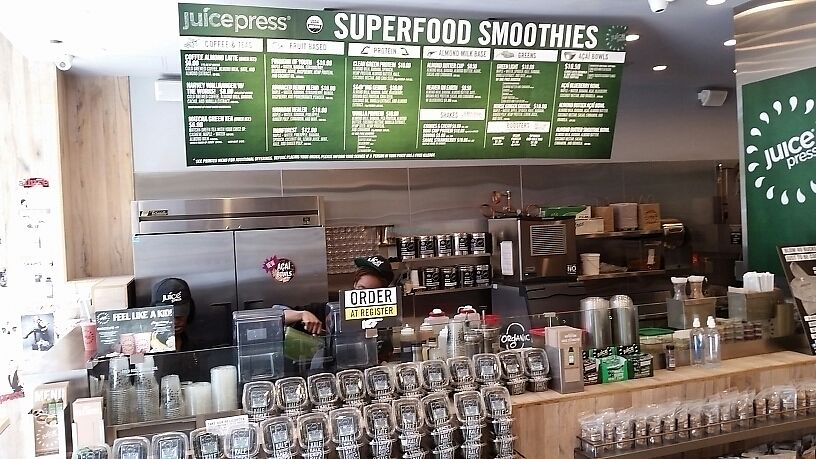 "Photo of Juice Press - Amsterdam Ave  by <a href=""/members/profile/eric"">eric</a> <br/>juice counter <br/> June 9, 2017  - <a href='/contact/abuse/image/77173/267329'>Report</a>"