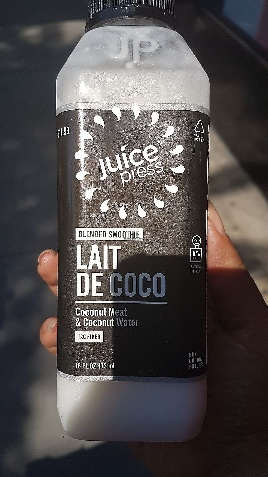"""Photo of Juice Press - W 82nd St  by <a href=""""/members/profile/unabashed"""">unabashed</a> <br/>Coconut meat with coconut water. So good!! <br/> June 11, 2017  - <a href='/contact/abuse/image/77176/268107'>Report</a>"""