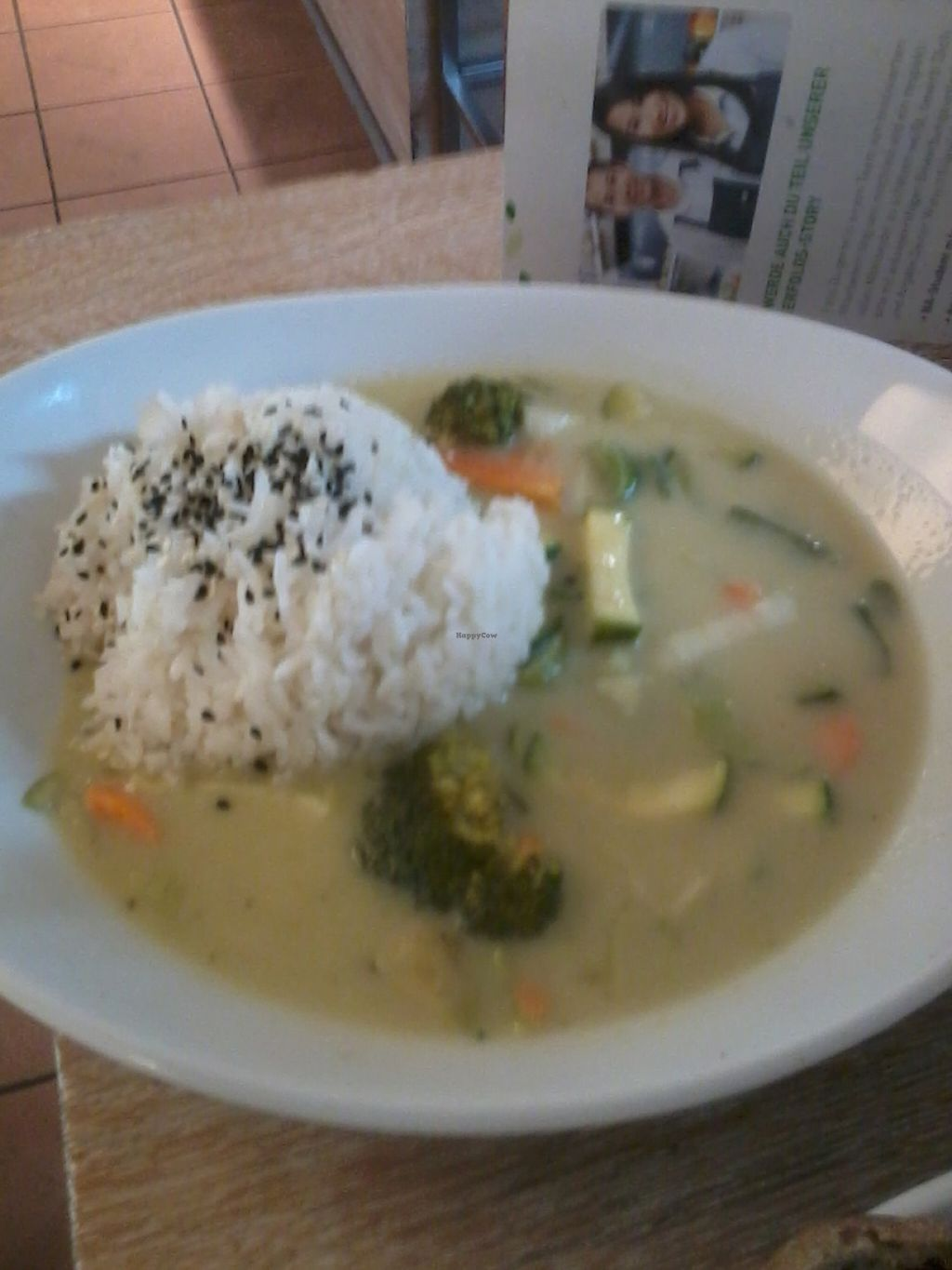 """Photo of Dean & David - Schellingstr  by <a href=""""/members/profile/deadpledge"""">deadpledge</a> <br/>Vegan green veggie curry and rice <br/> July 28, 2016  - <a href='/contact/abuse/image/77182/162949'>Report</a>"""