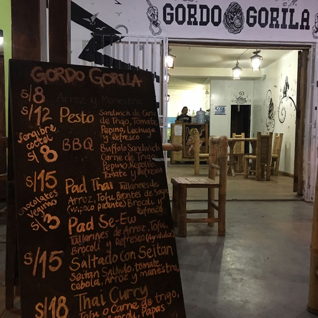 """Photo of CLOSED: Gordo Gorila  by <a href=""""/members/profile/vegancheeks"""">vegancheeks</a> <br/>specials <br/> January 8, 2017  - <a href='/contact/abuse/image/77187/209642'>Report</a>"""