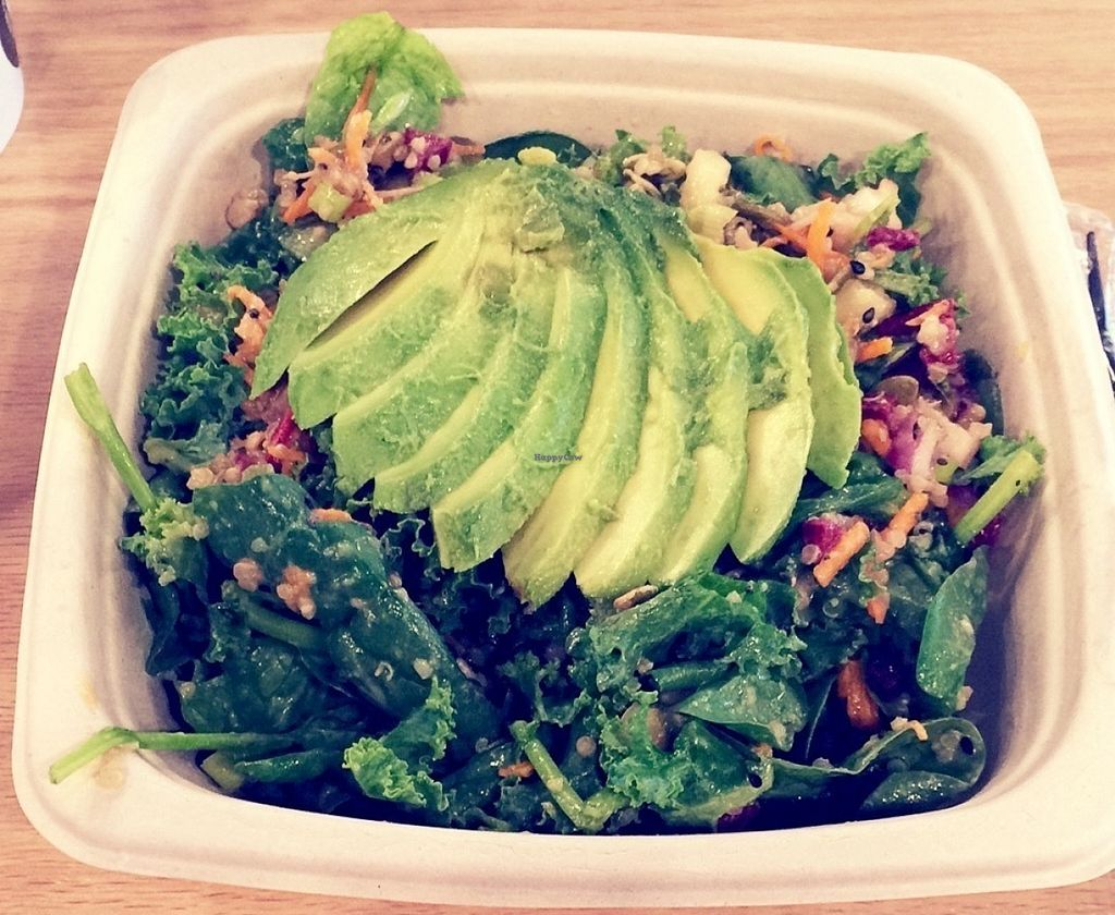 """Photo of Juice Press  by <a href=""""/members/profile/VeganVegabond"""">VeganVegabond</a> <br/>Terrific salad <br/> July 26, 2016  - <a href='/contact/abuse/image/77195/162524'>Report</a>"""