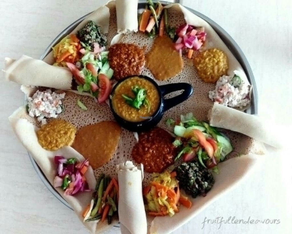 """Photo of Injera House   by <a href=""""/members/profile/HanifMubarak"""">HanifMubarak</a> <br/>Vegan platter for 3 <br/> August 3, 2016  - <a href='/contact/abuse/image/77209/164998'>Report</a>"""