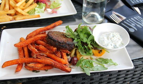 "Photo of Kerubi  by <a href=""/members/profile/reissausta%20ja%20ruokaa"">reissausta ja ruokaa</a> <br/>Kerubi used to have this vegan dish: sweet potato fries, vegetable patty, salad and vegan aioli.  <br/> September 22, 2016  - <a href='/contact/abuse/image/77222/177337'>Report</a>"