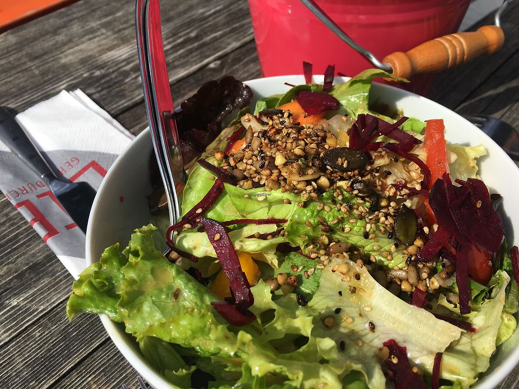 """Photo of Huendeleskopfhuette  by <a href=""""/members/profile/britred11"""">britred11</a> <br/>Mixed salad - best salad I ever had! <br/> September 24, 2017  - <a href='/contact/abuse/image/77229/307671'>Report</a>"""
