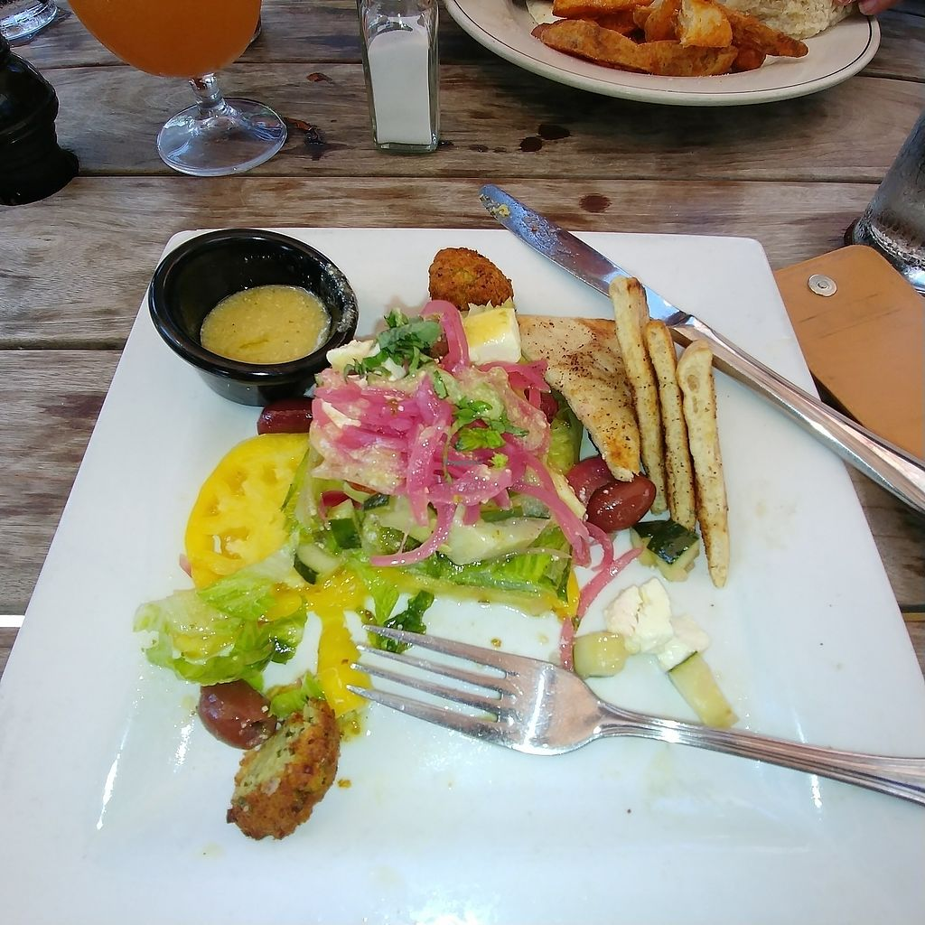"Photo of McCoy's Public House  by <a href=""/members/profile/dwanger"">dwanger</a> <br/>Half eaten green salad with chickpea fritters <br/> August 20, 2017  - <a href='/contact/abuse/image/77244/294860'>Report</a>"