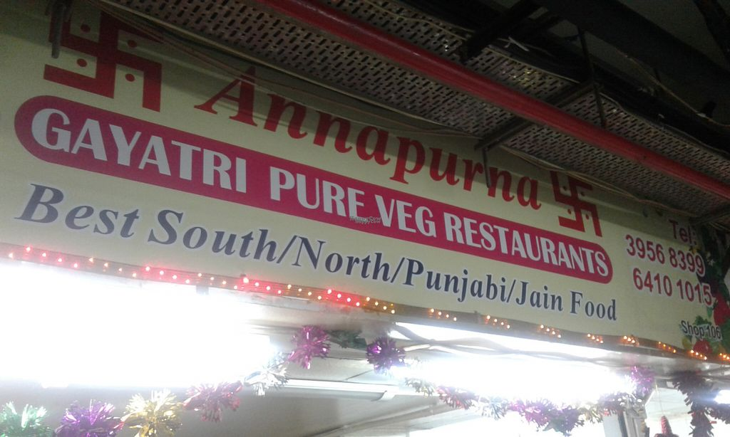 "Photo of CLOSED: Annapurna Veg Restaurant  by <a href=""/members/profile/Stevie"">Stevie</a> <br/>Shop sign <br/> August 1, 2016  - <a href='/contact/abuse/image/77257/164058'>Report</a>"