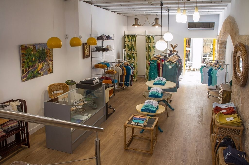 """Photo of Estepajoana  by <a href=""""/members/profile/Estepajoana"""">Estepajoana</a> <br/>Estepajoana is a new sustainable fashion shop in Palma de Mallorca, for men and women. All our clothes and shoes are Fair Trade, Ecofriendly and Free Cruelty. We have brands like Skunkfunk(women fashion),Natural World (made in Spain shoes),Les Volutes de Laura (handmade handbags with vegan leather, linen,cotton),Pappuv (recycled wood sunglasses),Santo Fruto (ecofriendly clothing), Ursmybike (urban cyclists) and necklaces an ear rings from the Vicente Ferrer Foundation, Fair Trade and handmade in India <br/> July 28, 2016  - <a href='/contact/abuse/image/77345/162939'>Report</a>"""
