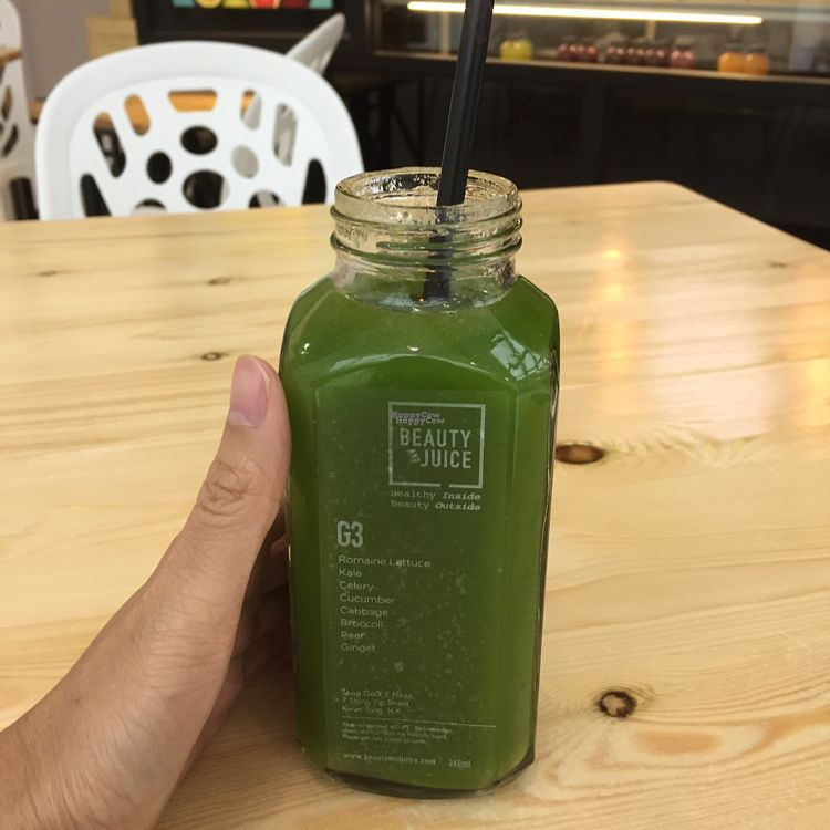 "Photo of CLOSED: Beauty and Juice - Kwun Tong  by <a href=""/members/profile/Bethie_me"">Bethie_me</a> <br/>G3 juice - $39 <br/> October 2, 2016  - <a href='/contact/abuse/image/77371/179178'>Report</a>"