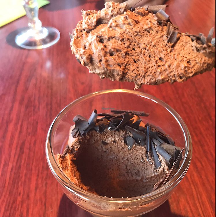 """Photo of London Bridge Bar and Restaurant  by <a href=""""/members/profile/veganbikerdude"""">veganbikerdude</a> <br/>Chocolate mousse. I'm salivating just looking at the photo it was so good! <br/> June 18, 2017  - <a href='/contact/abuse/image/77374/270327'>Report</a>"""