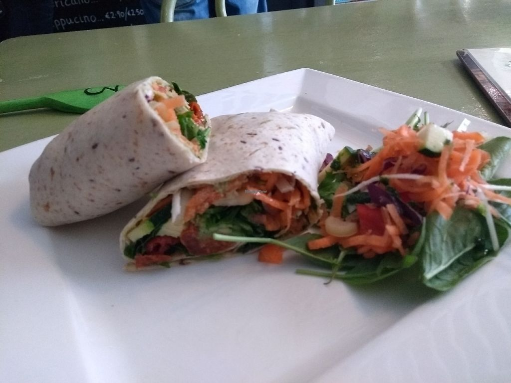 """Photo of Cafe Temple  by <a href=""""/members/profile/kaibun"""">kaibun</a> <br/>vegan wrap <br/> May 27, 2017  - <a href='/contact/abuse/image/77378/263007'>Report</a>"""