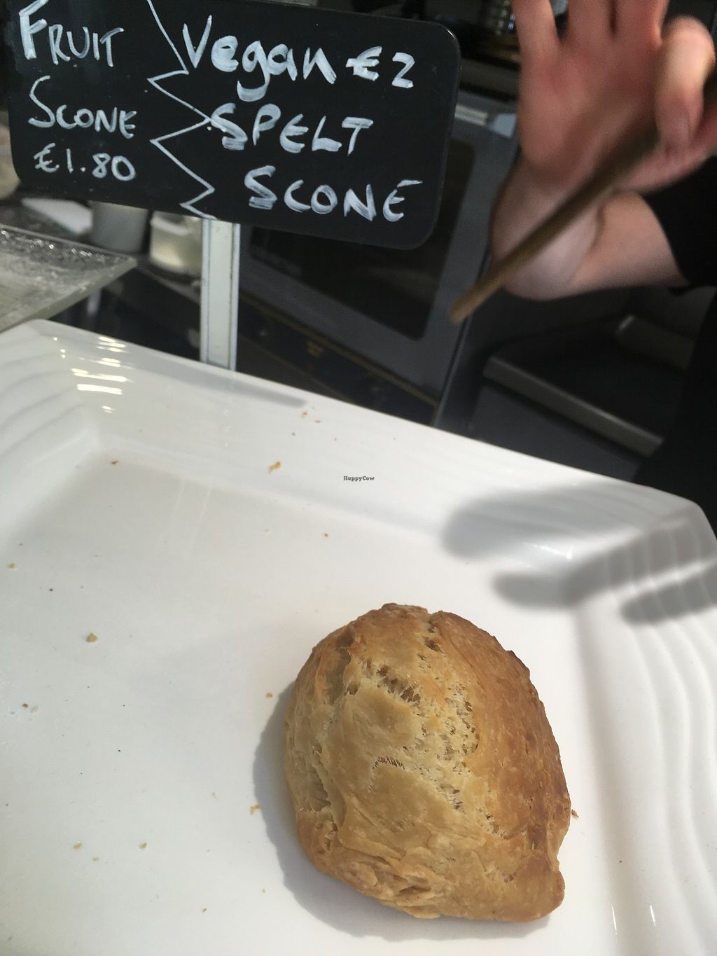 """Photo of Cafe Temple  by <a href=""""/members/profile/phashonkat"""">phashonkat</a> <br/>Vegan scone & coffee/tea for under 4 euro! <br/> July 25, 2017  - <a href='/contact/abuse/image/77378/284574'>Report</a>"""